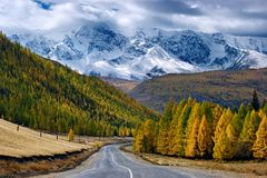 Road in mountain stock image