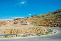 Road in mountain area near Dead sea in Jordan royalty free stock photo