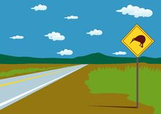 Road in the mountain clipart Stock Photography