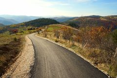 Road on the mountain Royalty Free Stock Photo