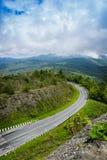 Road on mountain. At Doi Intanon : Chiangmai Thailand Stock Image