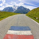 Road in mountain. French Alps Stock Images