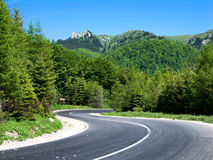 Road in mountain landscape Royalty Free Stock Images