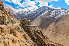 Road on the mountain of Leh Stock Image