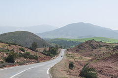 Road among the mountain from Marrakesh to Quarzazate Stock Images