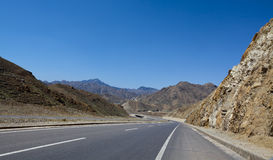 Road mountain ningxia china Royalty Free Stock Photos