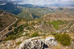 Road through a mountain pass Royalty Free Stock Photo