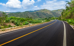 Road and mountain. Stock Image