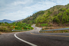 Road and mountain. Royalty Free Stock Images
