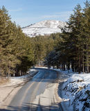 Road at Mountain Range Royalty Free Stock Images