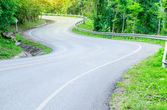 Road on mountain. s curve. Stock Images