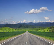 Road in mountain. Royalty Free Stock Photos