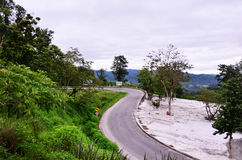 Road on Mountain to Pai at Mae Hong Son Thailand Stock Image