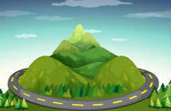 Road and mountain Royalty Free Stock Photo