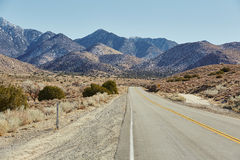 Road and mountain, USA Stock Photography