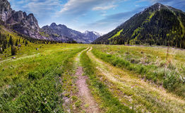 Road in Mountain valley Stock Photography