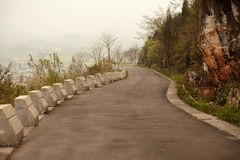 Road on mountain in Wanfenglin,Guizhou in China. Royalty Free Stock Photography