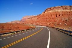 Road through mountains stock photo