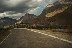 Road in the mountains Royalty Free Stock Image