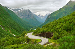 Road between mountains. Royalty Free Stock Images