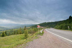 Road at the Mountains Royalty Free Stock Photography