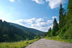 Road in the mountains. Royalty Free Stock Photography