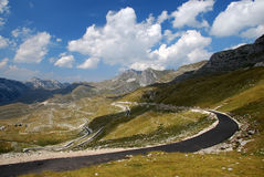 Road in the mountains. Road in the high mountains Stock Photos