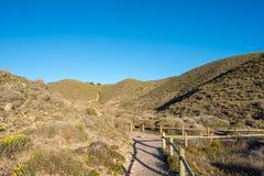 Road through the mountains of Almeria, Andalucia. Spain Stock Photography