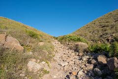 Road through the mountains of Almeria, Andalucia. Spain Royalty Free Stock Images