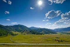 The road in the mountains. Royalty Free Stock Image