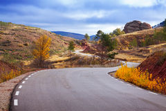 The road through the mountains Royalty Free Stock Image