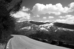 Road and mountains Stock Image