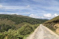 Road in the mountains, Cantabria, Spain Royalty Free Stock Photo