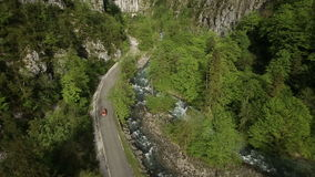 Road in mountains stock footage