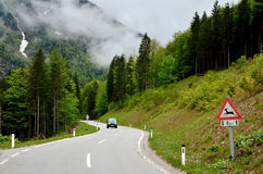 Road in mountains. Royalty Free Stock Images