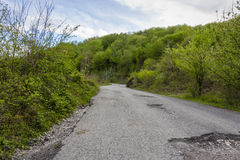Road in mountains Stock Image