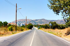Road and mountains. In Cyprus royalty free stock photos