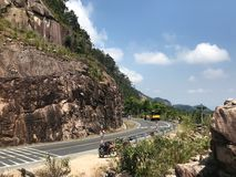 Road in the mountains from dalat to nha trang stock photos