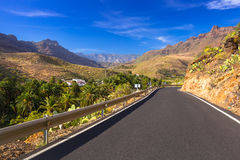 Road through the mountains of Gran Canaria Royalty Free Stock Photo
