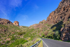 Road through the mountains of Gran Canaria Royalty Free Stock Photos