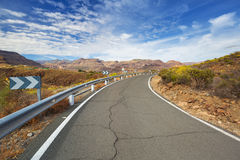 Road through the mountains of Gran Canaria Royalty Free Stock Image