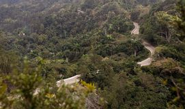 Road. The road among the mountains from Guantanamo to Baracoa, Cuba Stock Image