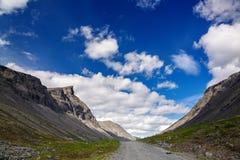 Road in the mountains of Khibiny, Kola Peninsula. Russia Stock Photo