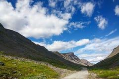 Road in the mountains of Khibiny, Kola Peninsula,. Russia Royalty Free Stock Images
