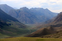 Road in the mountains. Of Kyrgyzstan Royalty Free Stock Photo
