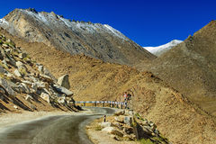 Road, Mountains of Leh, Ladakh, Jammu and Kashmir, India Stock Photography
