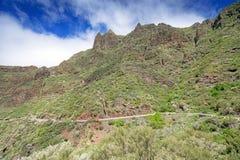 Road at mountains of Majorka Spain Stock Photos