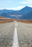 Road in the mountains of Mongolia Royalty Free Stock Photos