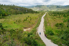 Road in mountains, New Guinea Stock Image