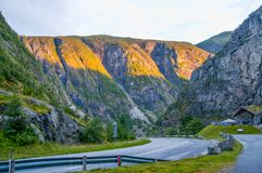Road in mountains of Norway Stock Image